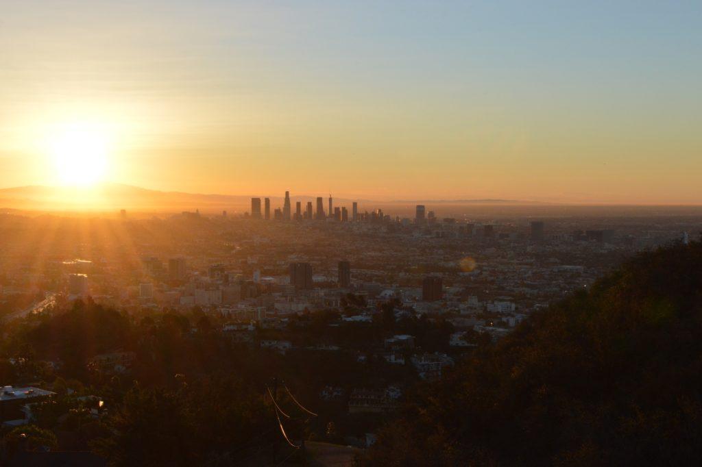 Sonnenaufgang vom Runyon Canyon in L.A. Zumindest das Klima dürfte für die persischen Flüchtlinge keine große Umstellung gewesen sein