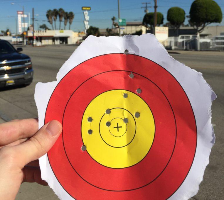 Die letzten fünf Schüsse aus 25 Metern landeten im Gelben