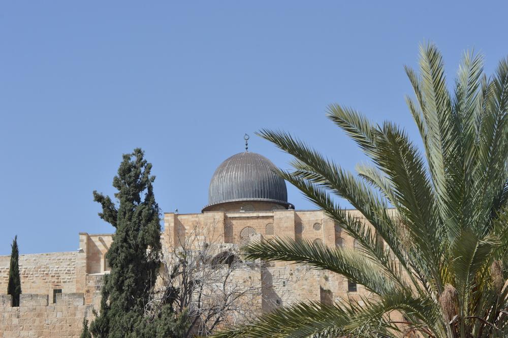Die Kuppel der Al-Quds-Moschee in Jerusalem. Dort waren einst jüdische Tempel (Foto: Til Biermann)