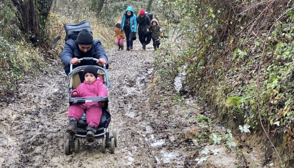 Afghanische Flüchtlinge im Januar 2021 an der bosnisch-kroatischen Grenze